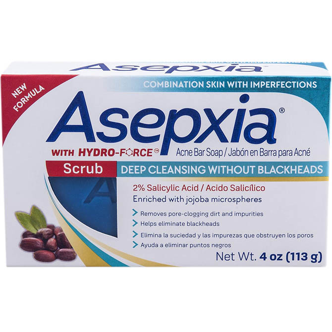 GENOMMA ASEPXIA SOAP EXFOLIATION WITHOUT BLACKHEADS 4oz