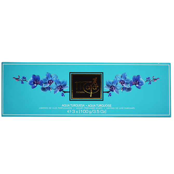 MAJA SOAP LUXURY AQUA TURQUOISE PERFUMED X 3