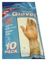 E GLOVES DISPOSABLE VINYL X10