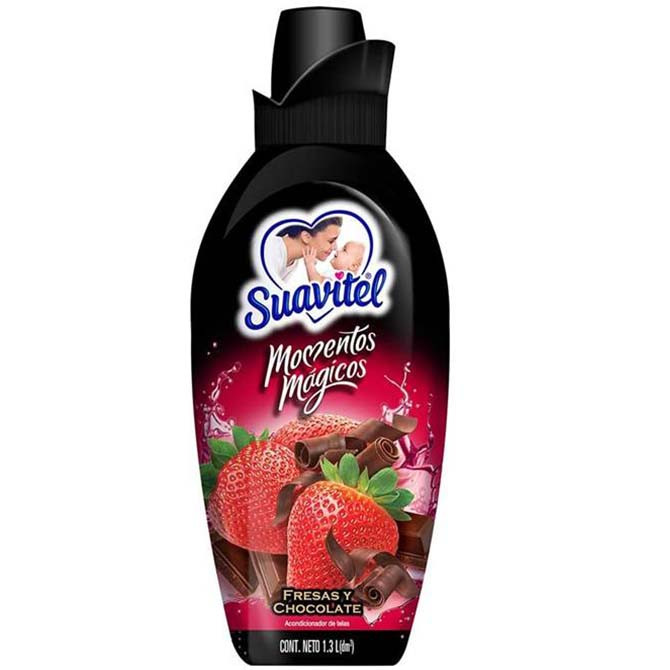 SUAVITEL FABRIC SOFTNER CHOCOLATE & STRAWBERRY 750ml