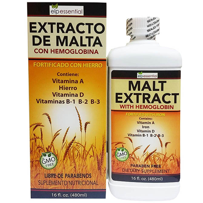 MALT EXTRACT WITH HEMOGLONIBA ELP 16oz